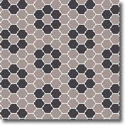 Vitrified mosaic tiles beehive hexagon 25 x 25 mm