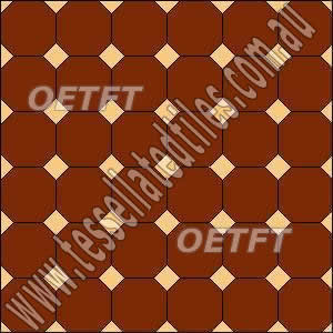 tessellated floor pattern octagon and dots
