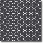 Vitrified mosaic tiles black hexagon 25 x 25 mm