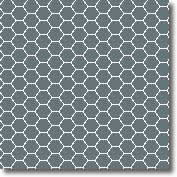 Vitrified mosaic tiles green hexagon 25 x 25 mm