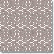 Vitrified mosaic tiles white hexagon 25 x 25 mm