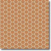 Vitrified mosaic tiles oatmeal hexagon 25 x 25 mm