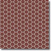 Vitrified mosaic tiles special red hexagon 25 x 25 mm