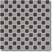 Vitrified mosaic tiles checkerboard 25 x 25 mm