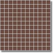 Vitrified square tiles brown 25 x 25 mm